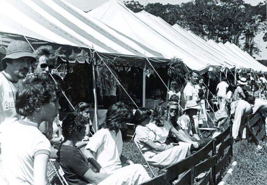 The Grand Prix Tent in 1979. Photo courtesy of the Hampton Classic Horse Show.