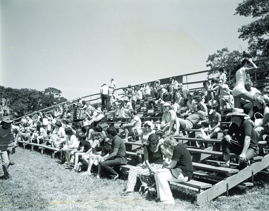 The grandstands in the 1970s. Photo courtesy of the Hampton Classic Horse Show.