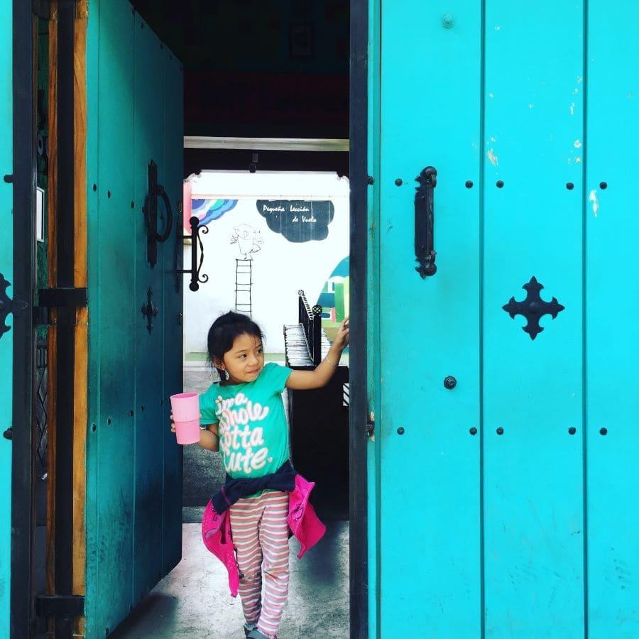 Young girl representing JustWorld International.